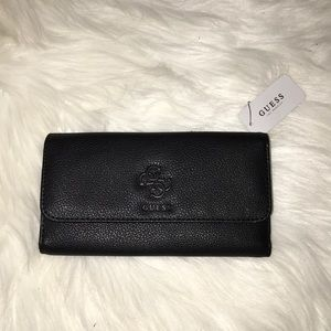 Guess Black Trifold Wallet